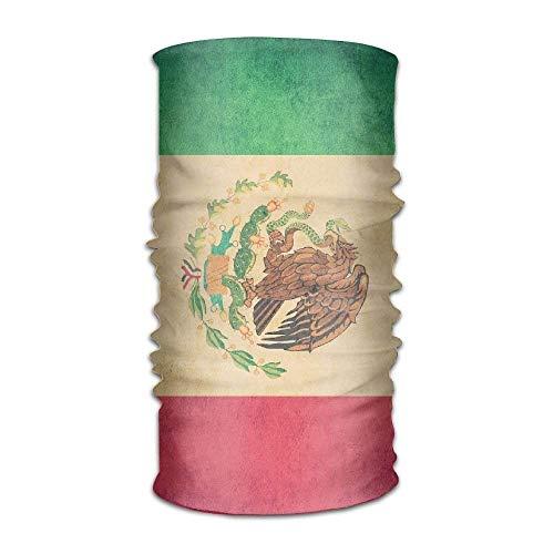 (Unisex Stylish Mexican Flag Quick Dry Microfiber Headwear Outdoor Magic Bandana Neck Gaiter Head Wrap Headband Scarf Face Mask Ultra Soft Elastic Handscarf)