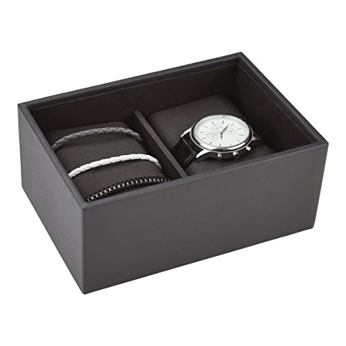 Stackers Herren Zubehör | Mini charcoal grau Uhrenbox Stacker
