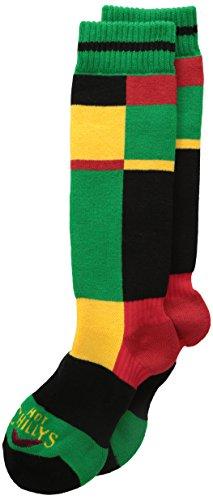 Hot Chillys Boy 's Statische Winter Sport Socken, Jungen Mädchen, Static/Green (Hot Chillys Winter Socken)