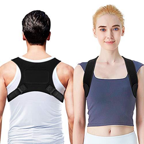 OMERIL Corrector de Postura para Espalda, Hombro y Clavícula, Cinturón Corrector Postura Ajustable, Cómodo Espalda Recta Soporte para Mujer e Hombre, Corregir Postura para Alivio del Dolor (27'- 51')