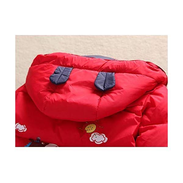 XINER Los niños de Invierno de la Nieve niño Conjunto de Ropa de los niños Abajo de la Chaqueta Overoles para Chica bebé… 3