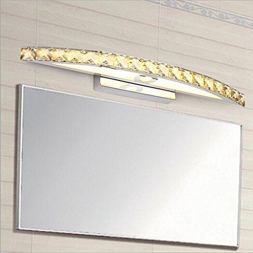 Miaoge Einfache Luxus WC Spiegelfrontleuchte LED Kristall Wand Bad Wasser anti-fog Edelstahl Spiegel vorderen Leuchten 54cm 10W - Wasser-bad-kristalle