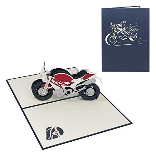 Geburtstagskarte Motorrad 3D Pop...