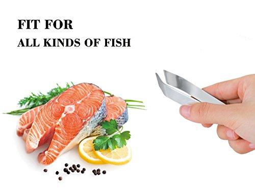 comprare on line Pinzette per Pesce in Acciaio Inox, Pinza per Lische di Pesce - Adatto per Peli di Pollo Anatra Maiale (2 Pacchi) prezzo