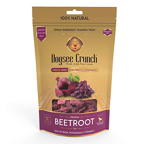 Dogsee Crunch Single-Ingredient Freeze-Dried Beetroots, Training Treat, 30 g