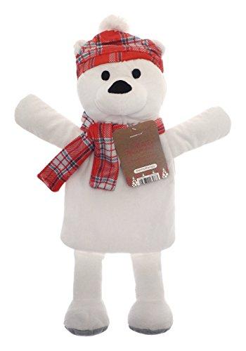Kinder saisonale Winter Spaß Tartan Hut & Schal 3D Neuheit 1L Wärmflasche