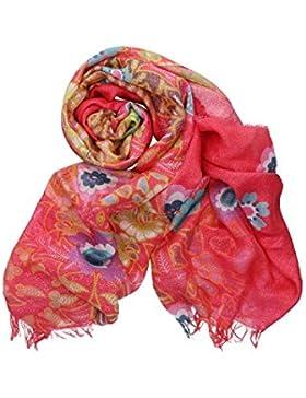 Foulard mujer PIERRE CARDIN coral bufanda estola fantasía floral en box regalo VL337