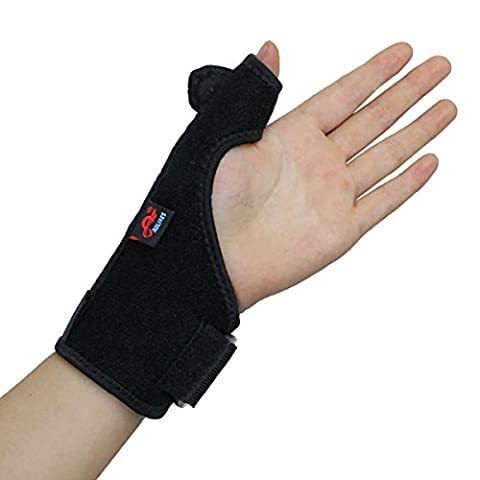 AOLIKES Thumb Splint Support Wrist Brace Strap for Trigger Finger Tendonitis Sprain Arthritis Strain NHS Left Hand