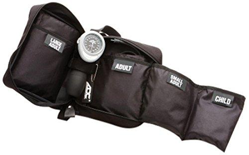 American Diagnostic 732-bk multikuf 7324-cuff EMT Kit mit 804tragbar Palm Aneroid Blutdruckmessgerät, Blut Druck Manschetten (13-50cm), Nylon Reißverschluss Aufbewahrungstasche, Schwarz -