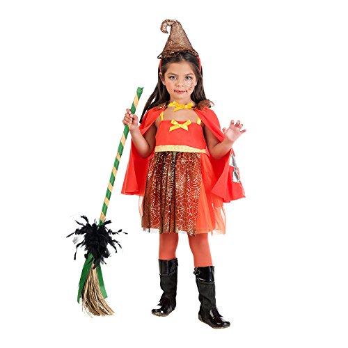 Elbenwald Zauber Hexe Kostüm Kinder Kleid Cape Hut zuckersüß zum Karneval rot - 3 Jahre