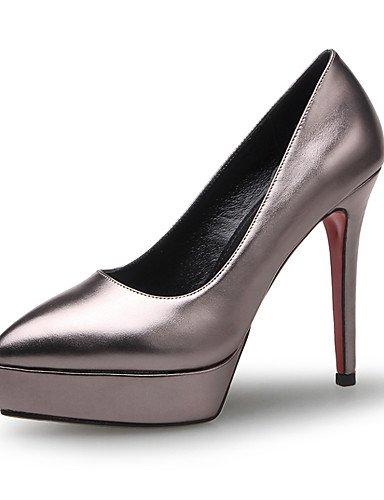 WSS 2016 Chaussures Femme-Bureau & Travail / Habillé-Bleu / Gris / Pêche-Talon Aiguille-Talons / Gladiateur / Bout Pointu-Talons-Microfibre peach-us8 / eu39 / uk6 / cn39