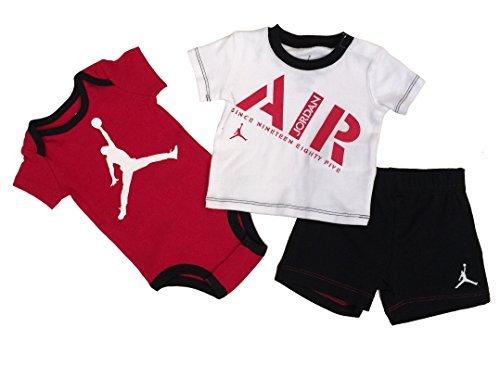 y und Hose, 3-teiliges Set, Unisex - Baby, 553279-023, rot/weiß, 6/9 Months ()