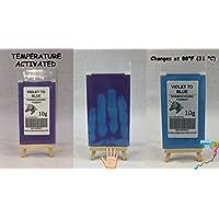 20g de Thermochromic Temperatura activado pigmento–Múltiples Colores–calor sensible cambio de color Polvo para pintura, esmaltes de uñas, tejido, pantalla de tinta de impresión, arte, cerámica, y más VIOLET TO BLUE