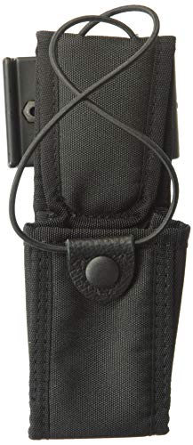 Uncle Mike\'s Kodra Laminated Swivel Belt Loop Duty Nylon Web Radio Case (Size 4, Black)
