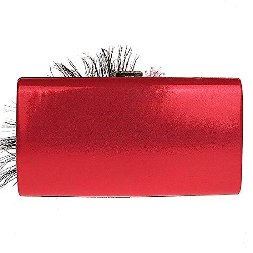 HT  Ladies Evening Handbag, Appendi borsa tascabile  Donna Red