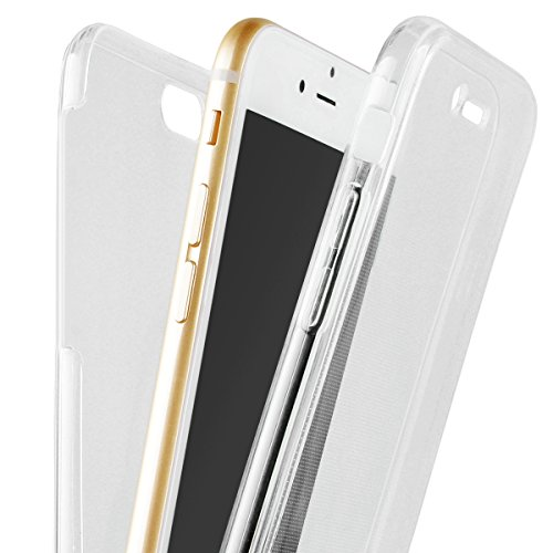 HB-Int 3 in 1 Durchsichtige TPU Hülle für iPhone SE iPhone 5 / 5S 360 Grad Doppelseitig Case 2 Stücke Schale Bildschirm Schutzhülle Full Body Cover Dünn Flexible Silikon Leicht Weich Handytasche Porte transparent