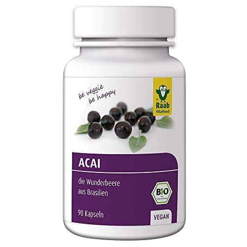 Violet-extrakt (Raab Vitalfood Bio Acai-Kapseln, 90 Stück, hochdosiert, aus Acai-Beeren aus Brasilien, laborgeprüft in Deutschland, vegan, Extrakt)