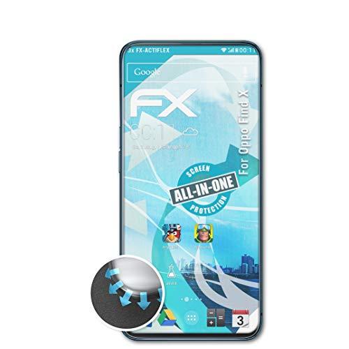 atFolix Schutzfolie passend für Oppo Find X Folie, ultraklare & Flexible FX Bildschirmschutzfolie (3X)