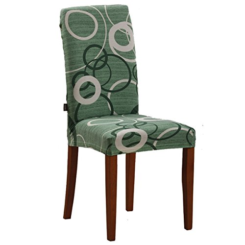 Bed Store - Joker Coprisedia vesti sedia millerighe elasticizzato 2 pezzi linea Cerchio - VERDE MENTA