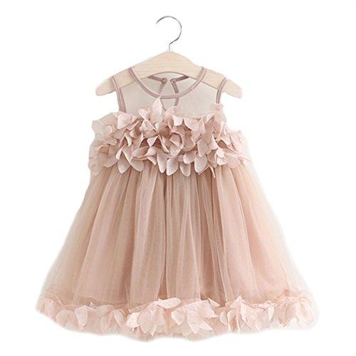 BINGMAX Sommerkleid Blumenmädchen Prinzessin Kleid Süß Tüllkleid Shirtkleid Festzug Partykleid Hochzeitkleid