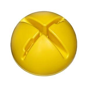 agility sport pour chiens - socle remplissable pour jalons et cerceaux, couleur: jaune - 1x xsy