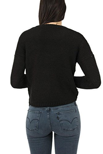 Guess Ls Rn Bella, T-Shirt Donna Nero (Jet Black)