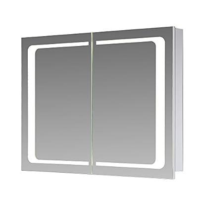 Eurosan London, Spiegelschrank, Integrierte LED-Frontbeleuchtung, Weiß, London, in unterschiedlichen Ausführungen von Eurosan auf Spiegel Online Shop