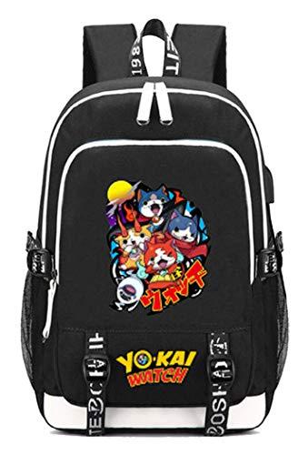 h PuniPuni Spiel Backpack Schultasche Laptop-Rucksack mit USB-Ladeanschluss und Kopfhöreranschluss /4 ()