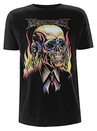 Megadeth Flaming Vic Camiseta Negro XL