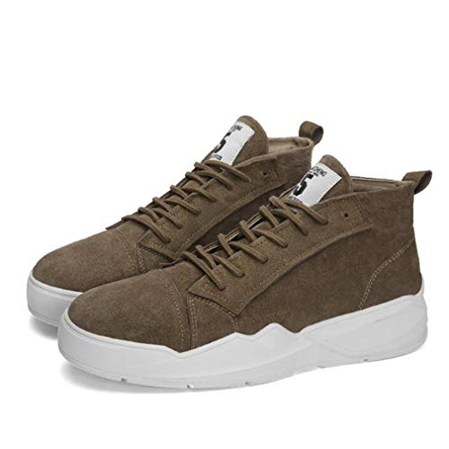 Hy Herren Freizeitschuhe, Leder Frühjahr/Herbst, Flache Plattform Schuh Komfort Sneakers...