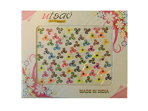 Bindis 50 Stück Stirnschmuck Kärtchen Karte selbstklebend Bollywood Schmuck Indien Hinduismus