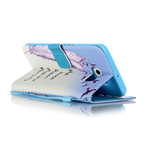 Meet de Samsung Galaxy S6 Edge Plus Bookstyle Étui Housse étui coque Case Cover smart flip cuir Case à rabat pour Galaxy S6EdgePlus / S6Edge+ Coque de protection Portefeuille - this iphone is locked s take those broken wings and learn to fly