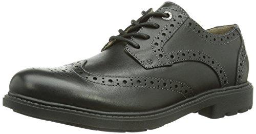 Clarks  Sumner Wing, Chaussures de ville à lacets pour homme Noir (Black Leather)