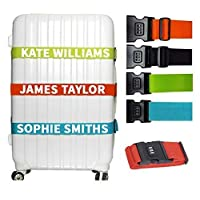 Personalised Luggage Strap With Lock Luggage Belt 5cm wide
