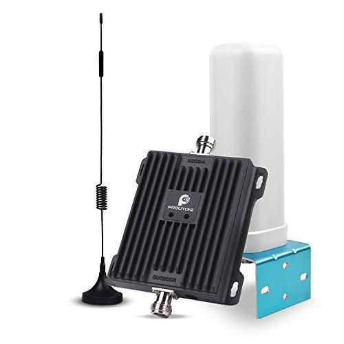 Proutone Dual Band GSM 900 MHz 4G LTE DCS 1800 MHz Band 8/3 Signalverstärker für Handy mit 2 Omnidirektionale Antenne Kit für das Handy (Dual Band 900/1800 MHz) Dual-band Handy-antennen