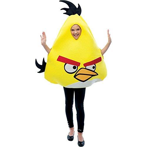 HUGHES Angry Birds Kinderkostüm gelb - Einheitsgröße (Gelbe Angry Bird Kostüme)