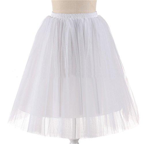 Honeystore Damen's 5 Layer Knielanger Rock Elastic Bund Tutu Prinzessin Tütü Tutu Petticoat Ballettrock One Size (Mann Kostüm Weiser Diy)