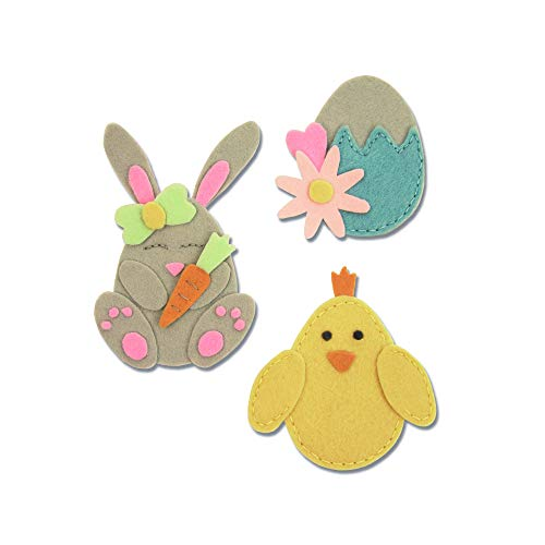 Sizzix Bunny Chick And Egg Fustella, Multicolore, taglia unica