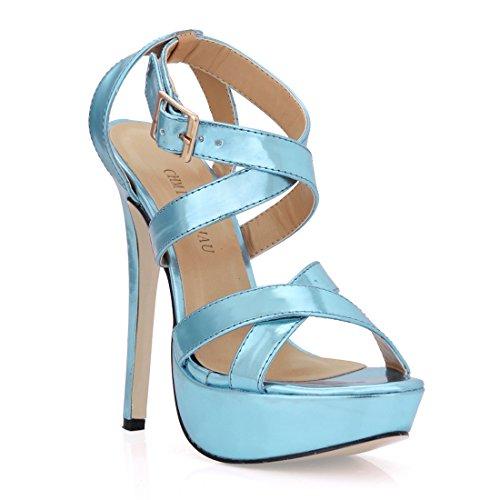 CHMILE CHAU-Zapatos para Mujer-Sandalias de Tacon Alto de Aguja-Talón  Delgado 2de2eb2c29a4