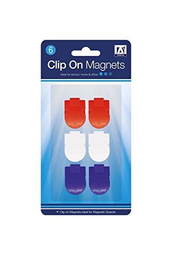 6x verschiedene Farben Clip auf Magnete Home Office Schule Stationery Utilities. 1 Pack of 6 (Disney Princess Quiz)