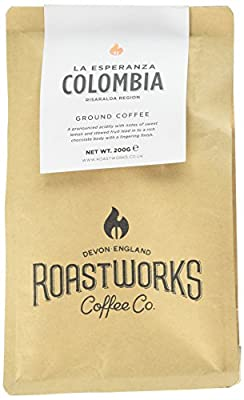 Roastworks Colombia La Esperanza Premium Roast and Ground Coffee 200 g by Roastworks