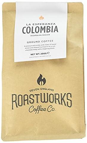 Roastworks Colombia La Esperanza Premium Roast and Ground Coffee 200 g