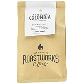 Roastworks Colombia La Esperanza Premium Roast and Ground Coffee 200 g 41bND WoEoL