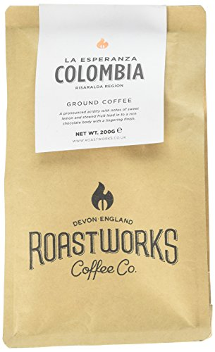 Roastworks Colombia La Esperanza Premium Roast and Ground Coffee 200 g  Roastworks Colombia La Esperanza Premium Roast and Ground Coffee 200 g 41bND WoEoL