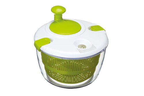 Kitchen Craft Healthy Eating Large Salad Spinner and Dresser, White/Green, 25 cm