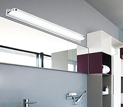Entzuckend ZMH LED Spiegelleuchte Bilderleuchte Schranklampe Wandleuchte Aus Rostfreir  Stahl Und Acryl, Kaltweiß IP45, Badezimmerlampe Badlampe Spiegel Wand ...
