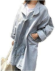LQABW Impression De Grande Taille Les Femmes Coupe-vent D'automne Version Coréenne Veste Manteau