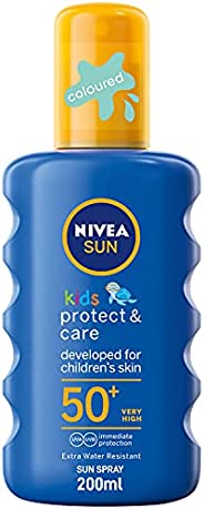 NIVEA, Sun Spray, Kids Moisturizing, SPF 50+, 200ml