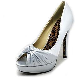 SendIt4Me , Damen Pumps Silber silber, Silber - silber - Größe: 41.5
