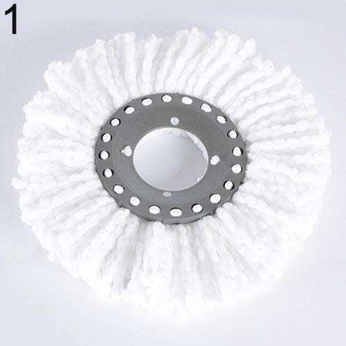 Cabeza giratoria 360de microfibra fácil Magic Spinning suelo gamuza de resistente fregona cabeza talla única blanco
